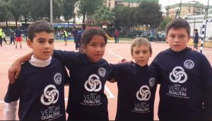 equipo de futbol infantil atletico macarena de sevilla patrocinado por verum qualitas